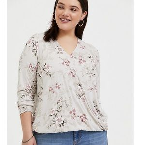 Torrid Super Soft Wrap Top NWT